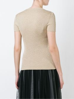 Embroidered Flowers Knit Top Red Valentino                                                                                                              Nude & Neutrals цвет