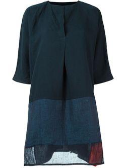 Платье Шифт С Панельным Дизайном DANIELA GREGIS                                                                                                              синий цвет
