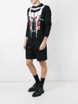 Geometric Pattern Sweater Les Hommes                                                                                                              черный цвет