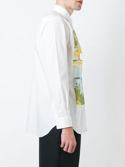 Print Shirt Comme Des Garcons                                                                                                              белый цвет