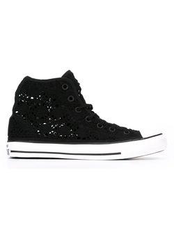 Высокие Кеды Крючком Converse                                                                                                              черный цвет