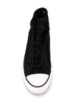 Высокие Кеды Крючком Converse                                                                                                              чёрный цвет