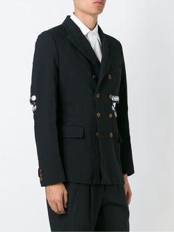 Snap Button Embellished Blazer COMME DES GARCONS HOMME PLUS                                                                                                              чёрный цвет