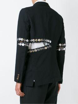 Snap Button Embellished Blazer COMME DES GARCONS HOMME PLUS                                                                                                              черный цвет