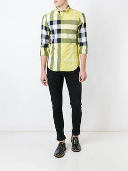Рубашка В Клетку Burberry Brit                                                                                                              желтый цвет