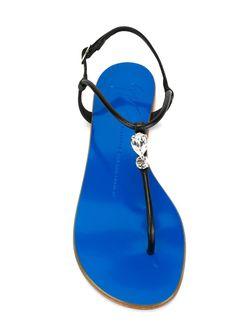 Сандалии Diamante Giuseppe Zanotti Design                                                                                                              синий цвет