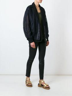 Woven Bomber Jacket Sacai                                                                                                              чёрный цвет