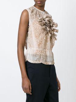 Блузка С Принтом И Объемной Аппликацией Comme Des Garcons                                                                                                              Nude & Neutrals цвет