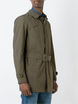 Двубортный Тренч Herno                                                                                                              коричневый цвет