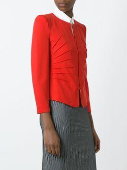 Приталенный Пиджак На Молнии Armani Collezioni                                                                                                              красный цвет