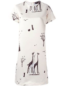 Платье С Принтом Rochas                                                                                                              Nude & Neutrals цвет