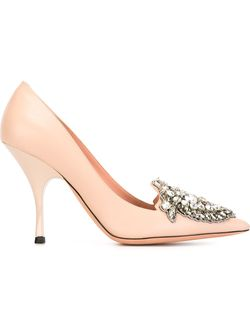 Embellished Stiletto Pumps Rochas                                                                                                              розовый цвет