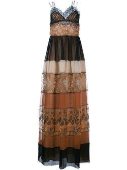 Платье В Пол С Кружевным Верхом Alberta Ferretti                                                                                                              многоцветный цвет