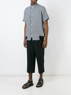 Gingham Shirt Sacai                                                                                                              чёрный цвет