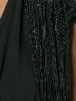 Драпированное Платье С Бахромой LOST AND FOUND                                                                                                              чёрный цвет