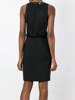 Fringed Back Fitted Dress Versace Collection                                                                                                              черный цвет