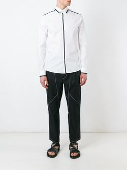 Рубашка С Контрастной Окантовкой Les Hommes                                                                                                              белый цвет