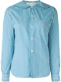 Peter Pan Collar Striped Shirt Comme Des Garcons                                                                                                              синий цвет