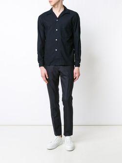 Cotton Pique Pajama Shirt CAMOSHITA BY UNITED ARROWS                                                                                                              синий цвет