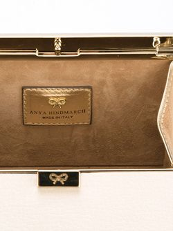Клатч Please Pay Here Imperial Anya Hindmarch                                                                                                              Nude & Neutrals цвет