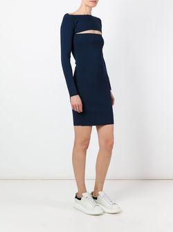 Cut-Out Ribbed Dress T By Alexander Wang                                                                                                              синий цвет