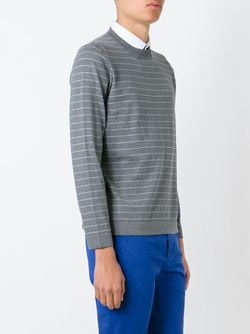 Striped Sweater Brunello Cucinelli                                                                                                              серый цвет