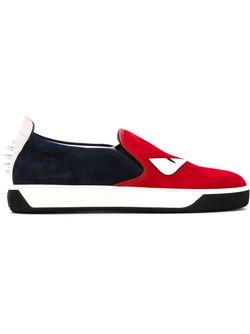 Кеды-Слипон Bag Bugs Fendi                                                                                                              красный цвет