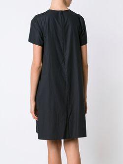 Плиссированное Крестьянское Платье Vera Wang                                                                                                              чёрный цвет