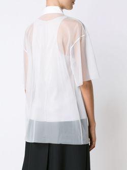 Прозрачная Рубашка С Рукавами По Локоть Vera Wang                                                                                                              белый цвет