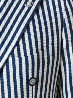 Двубортный Полосатый Пиджак Tagliatore                                                                                                              синий цвет