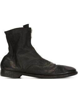 Front Zip Boots GUIDI                                                                                                              чёрный цвет