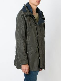 Стеганое Пальто С Капюшоном Moncler                                                                                                              зелёный цвет