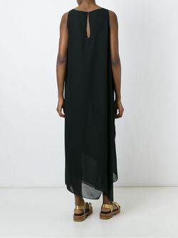 Layered Bateau Neck Dress I'm Isola Marras                                                                                                              чёрный цвет