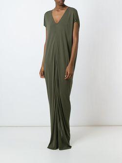 Draped Maxi Dress Rick Owens                                                                                                              зелёный цвет