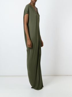Draped Maxi Dress Rick Owens                                                                                                              зелёный цвет
