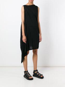 Асимметричное Трикотажное Платье RICK OWENS DRKSHDW                                                                                                              черный цвет
