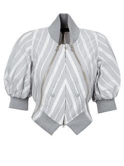 Полосатая Куртка-Бомбер ANREALAGE                                                                                                              серый цвет