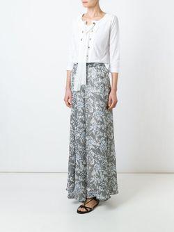 Блузка Со Шнуровкой Twin-set                                                                                                              белый цвет