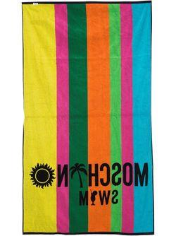 Logo Beach Towel Moschino Swim                                                                                                              чёрный цвет
