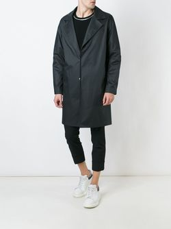 Wide Lapel Coat SYSTEM HOMME                                                                                                              чёрный цвет