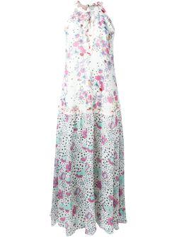 Print Maxi Dress GIAMBA                                                                                                              белый цвет