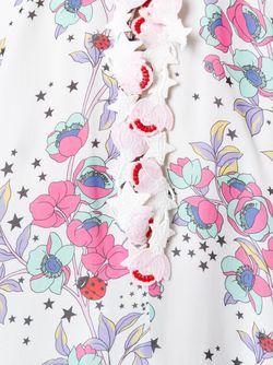 Floral Print Maxi Dress GIAMBA                                                                                                              белый цвет