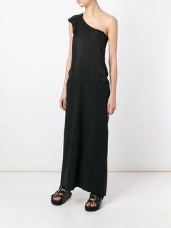 One Shoulder Maxi Dress ANDREA YA'AQOV                                                                                                              чёрный цвет