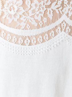 Топ С Кружевной Панелью Twin-set                                                                                                              белый цвет