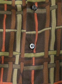 Рубашка В Клетку Etro                                                                                                              коричневый цвет