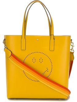 Smiley Featherweight Ebury Tote Anya Hindmarch                                                                                                              желтый цвет