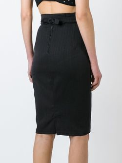 Striped Pencil Skirt Dolce & Gabbana                                                                                                              серый цвет
