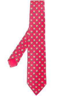 Print Tie Hermès Vintage                                                                                                              красный цвет