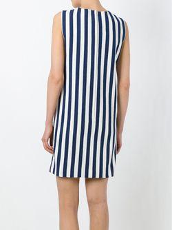 Платье-Шифт В Полоску Dolce & Gabbana                                                                                                              синий цвет