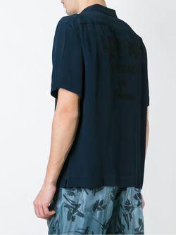 Рубашка С Короткими Рукавами Andrea Pompilio                                                                                                              синий цвет